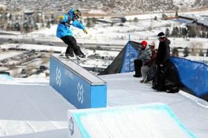 X Games 2010, Buttermilk Colorado.  Chaz Guldemond, nosepress 180 out