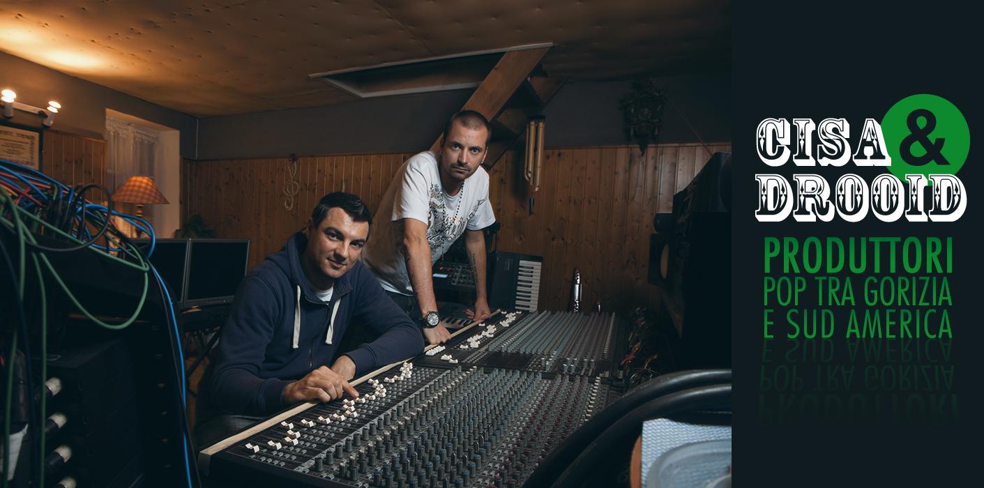Cisa e Drooid nel loro studio - copertina Articolo