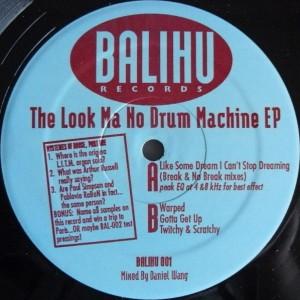 Daniel Wang The Look Ma No Drum Machine EP copertina